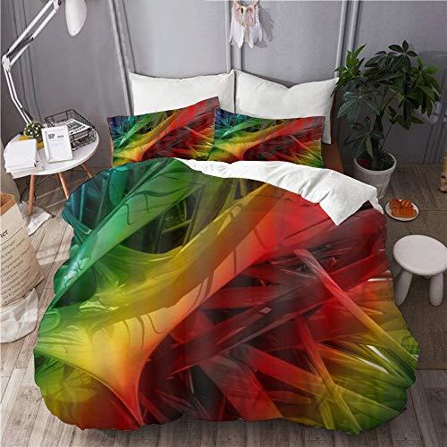 Minalo Parure de lit,Cool Fondos Rainbow,1 Housse de Couette 240x260 + 2 Taies d'Oreillers