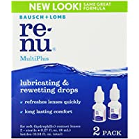 2-Pack Bausch + Lomb ReNu MultiPlus Lubricating & Rewetting Drops for Soft Contact Lenses (0.27 fl. oz. Bottles)