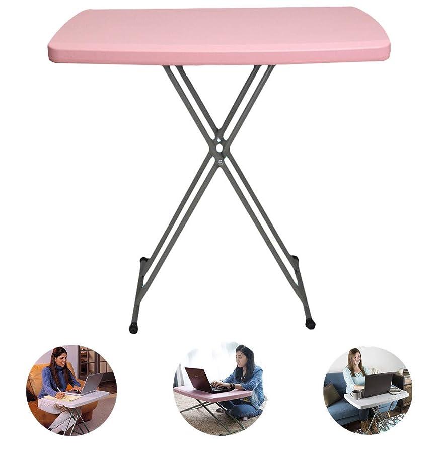 ヒープテメリティホーム折りたたみテーブル 自由昇降式テーブル アウトドアテーブル 耐荷重100kg 六段階調節可能 折れ脚 多機能 省スペース