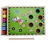 Mini juguete de billar, billar de madera para niños Juego de mesa de billar de mesa de billar Juego de interacción entre padres e hijos