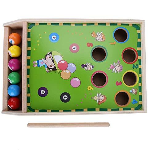 needlid Juguete para niños, Juguete de Juego de Mesa, Billar Divertido para niños para Jugar y Aprender a Partir de 3 años