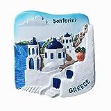 Jian Ai 3d Santorini Grecia recuerdo imán de nevera artesanía, hogar y cocina decoración Grecia imán nevera