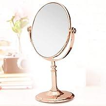 Espelho de Mesa Maquiagem Dupla Face Rose Gold 28cm