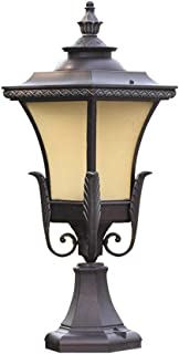 Classical Victoria Metal Column Lamp Post Lantern Outdoor Waterproof Aluminum Glass Pillar Light Walled Patio Garden Lawn ...