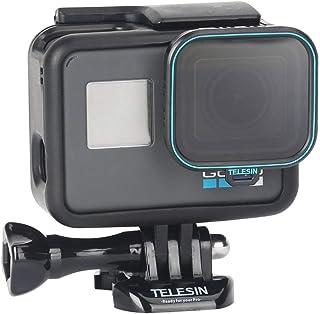 TELESIN Filtro CPL (Polarizador Circular) Filtro de Polarización Filtro Lente de Cámara con Tapa de Lente para GoPro Hero (2018) Hero 7 Hero 6 Hero 5 Black Action Cámara Accesorios Kit Protector