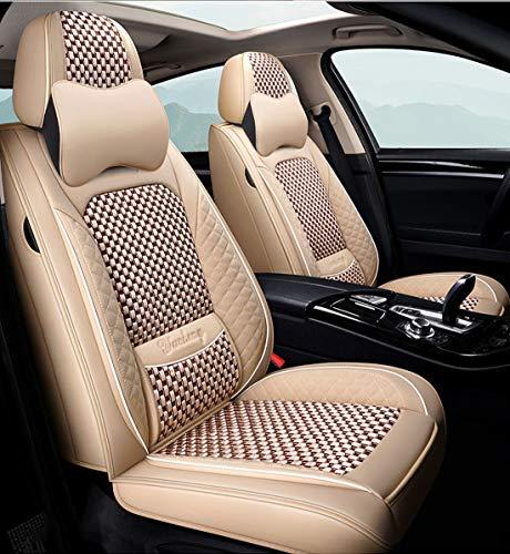 Funda De Asiento De Coche De Lino De Cuero Ford Focus 1 2 Mk1 Mk3 Explorer Fiesta Mk7 Courier Kuga M