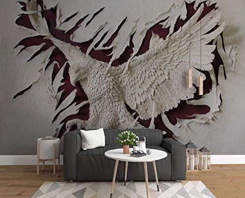 Papel Pintado Pared Papel Águila En Relieve Fotomurales 3d Decoración Papel Tapiz Dormitorio Sala Custom Murales Fondo Pared 150x105cm