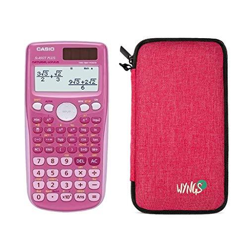 Casio FX-85GT Plus Pink + erweiterte Garantie + Schutztasche in pink