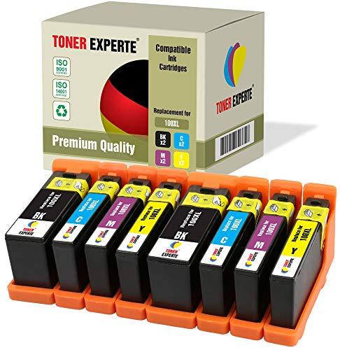 8 XL TONER EXPERTE® 100XL 100 XL Druckerpatronen kompatibel für Lexmark S300 S305 S402 S405 S505 S602 S605 S608 S815 S816 Pro 202 205 208 209 705 805 901 905 (2 Schwarz, 2 Cyan, 2 Magenta, 2 Gelb)
