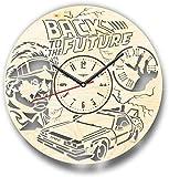 WZCXYX Ritorno al Futuro Orologio da Parete Fatto di Legno - Taglio Perfetto e Bello - Decora LA Tua CASA con Arte Moderna - 25,4 CM Dimensioni 30,5 cm Personalizzabile