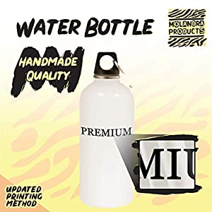 #loft - 20oz Hashtag Stainless Steel White Water Bottle with Carabiner, White