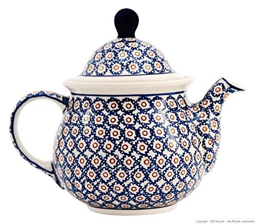 Original Bunzlauer Keramik Teekanne 1.75 Liter im Retro-Dekor 4 / Kaffeekanne