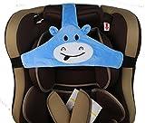 MINGZE Soporte de cabeza de asiento de coche de bebé niño, posicionador de sueño seguro y acogedor de coche, cinturón de sujeción de asiento de seguridad ajustable, cinturón de seguridad (Azul)