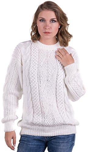 Gamboa - Alpaka Handgemachter Pullover - Erhältlich in Schwarz, Weiß und Hellgrau