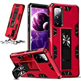 STORM BUY Phone Case for [ Samsung Galaxy S21+ Plus 5G ], Heavy Duty Hard Back Cover with [Shock Absorption] Protection, Kickstand Red Case for Galaxy S21+ Plus 6.7 Inch-IRRD