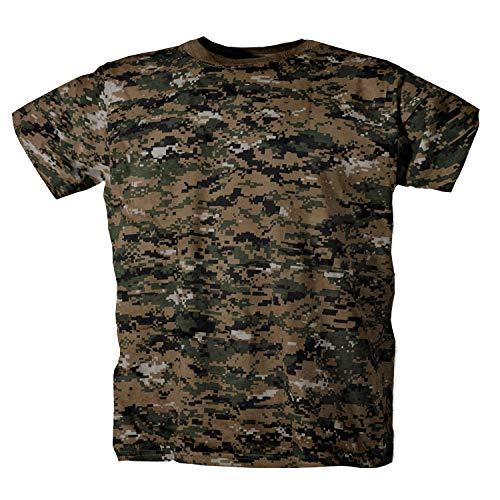 US Army Outdoor Prepper Jäger Angler Angeln jagen Shirt T-Shirt halbarm digital Woodland L