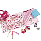 Our Generation Sleepover Set with Sleeping Bag for 18' Dolls Polka Dot Sleep Party