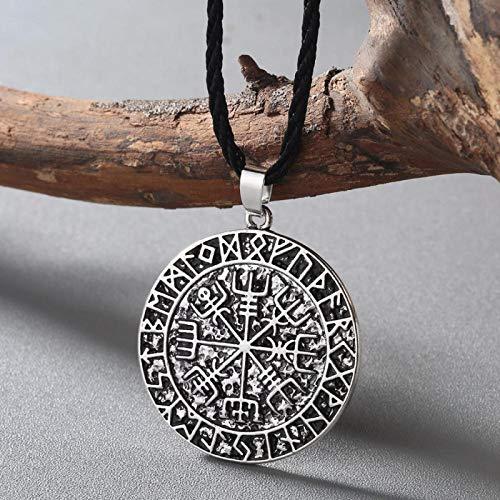 N/G Collar Vikingo Dopunk Estilo gótico Amuleto nórdico Colgante Collar eslavo Amuleto niño joyería