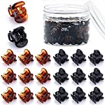 Beauty Shopping JANYUN 48 Pcs Small Mini Hair Claw Clips for Women Girl's Hair (Black And Brown)