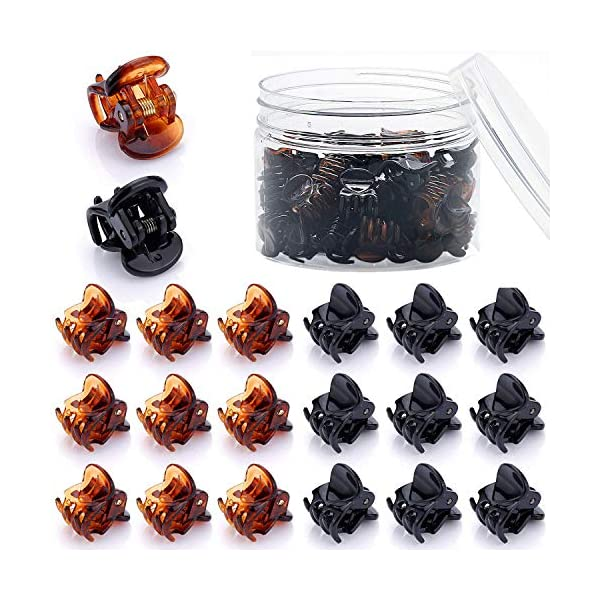 Beauty Shopping 48 Pcs Mini Hair Clips for Girls and Women(Black and Brown)