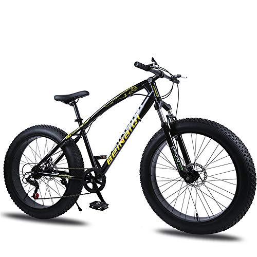 WYX Montagna della Bici della Bicicletta Ad Alta Acciaio al Carbonio 27 velocità 24/26 in BMX MTB Neve Fat Bike Beach Biciclette Shock Sospensione,C,26'× 27speed