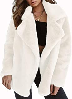 Womens Winter Shaggy Faux Fur Coat Long Sleeve Thick Jacket Outwear