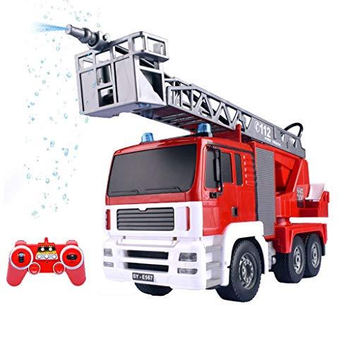 1:20 afstandsbediening simulatie elektrische ladder vuur modelauto draadloos watersproeiapparaat brandweerauto