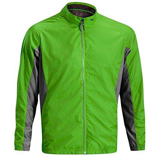 Mizuno Golf 2016Mens ligero chaqueta cortavientos verde Classic Green/Charcoal Melange X-Large