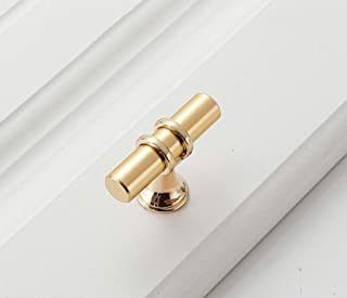 Cabinet Handle Knob Pack of 5 Black And Gold Zinc Alloy Handles Kitchen Drawer Handles (Color : Gold, Size : Single hole)