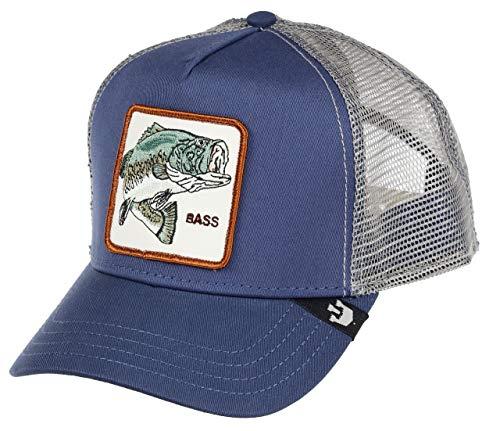 Goorin Brothers Animal Farm Snap Back Trucker Hat Blue Big Bass One Size