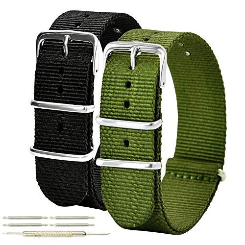 時計ベルト 腕時計ベルト カジュアル アウトドア 耐水 時計バンド ナイロンストラップ 替えバンド 18mm 20mm ベルト交換工具付き