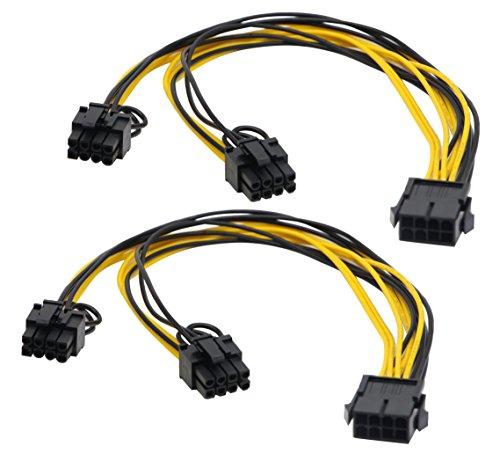 zdyCGTime 2 unidades de 8 pines PCI-E PCI Express tarjeta gráfica de...