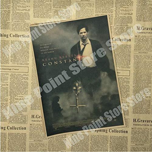 Fymm丶shop Constantine Classic Movie Poster Bar Cafe Sala Comedor Pared Pinturas Decorativas Cartel De Lona Pintura Sin Marco 40X50Cm (G2077)