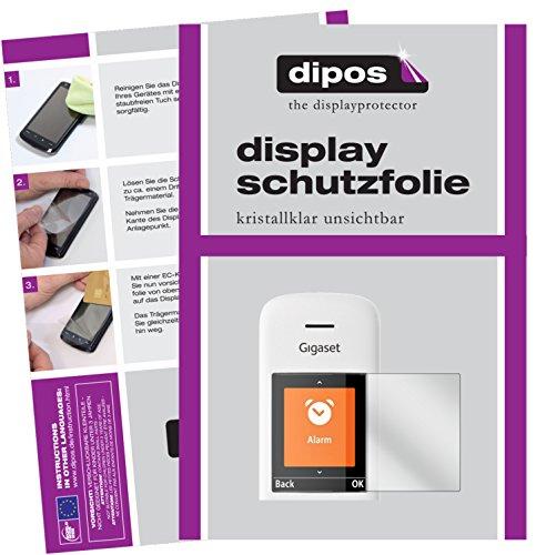 dipos I 6X Schutzfolie klar kompatibel mit Gigaset E370 / E370A Folie Displayschutzfolie