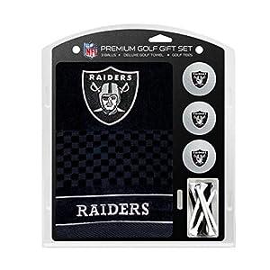 "Team Golf NFL Las Vegas Raiders Gift Set Embroidered Golf Towel, 3 Golf Balls, and 14 Golf Tees 2-3/4"" Regulation, Tri-Fold Towel 16"" x 22"" & 100% Cotton by Team Golf"