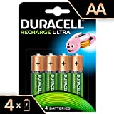 Duracell Recharge Ultra Piles Rechargeables type AA 2500 mAh, Lot de 4 piles