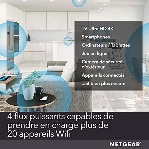 NETGEAR EAX20 Répéteur Mesh WiFi 6 Nighthawk AX1800 , Amplificateur Wifi, wifi extender , wifi booster, amplifiez votre signal, bénéficiez du Smart Roaming