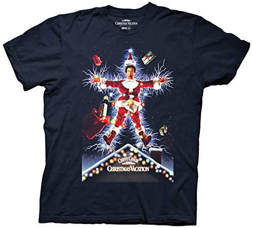 National Lampoons Christmas Vacation Movie Poster Adult T-Shirt (Large) Navy
