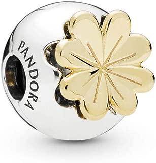 PANDORA Shining Clover 18k Gold Plated PANDORA Shine Collection Charm - 768000CZ