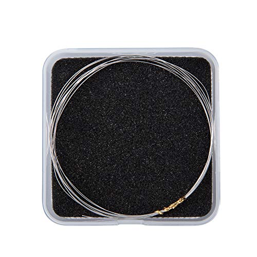 PandaHall - Alambre redondo de plata de ley 925, 2 m por rollo (6,56 pies) metalizado suave, 0,4 mm