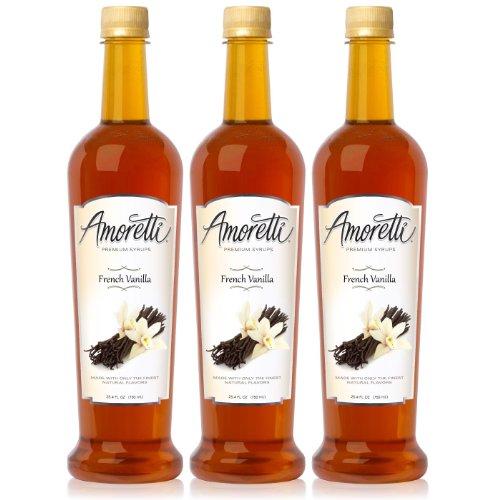 Amoretti Premium French Vanilla Syrup 750ml 3 Pack