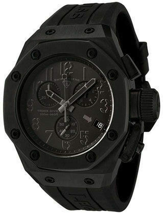 Swiss Legend Men's 10541-BLK Fashionable High quality Trimix with Watch Diver Chronograph