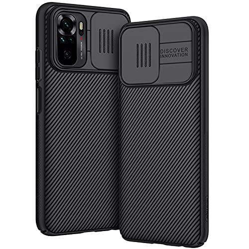 AROYI Funda Compatible con Xiaomi Redmi Note 10, Tapa Deslizante para la cámara Funda para Xiaomi Redmi Note 10 (2021) 6,43 Pulgadas - Negro