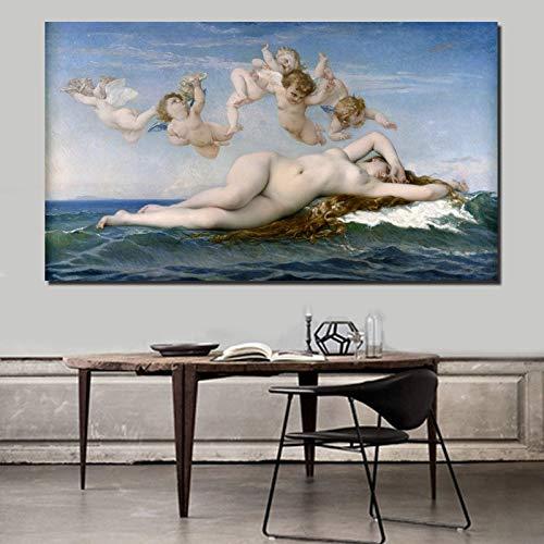 YuanMinglu Tapete Geburtsstern Leinwand Bild Wohnzimmer Wohnkultur Moderne Wandkunst Ölgemälde Poster Bild Rahmenlose Malerei 30x54cm
