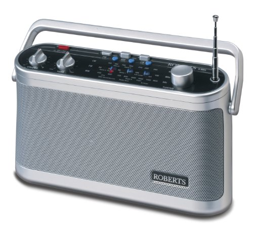 Roberts Classic Radio 3 Band Silver One Size