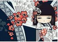 DMFNGJSD 数字油絵 フレームレス 、数字キット塗り絵 手塗り DIY絵-女性芸者-デジタル油絵 40x50 cm