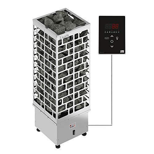Sawo Cubos Ni2 9kW Elektrische Saunaofen mit externer Steuerung Saunova (Ni2-Modell) für Saunakabinengröße 8 – 14 m³