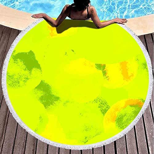 Hancal Strandtücher, Aquarell Abstrakter Hintergrund Moderne Textur Einfache runde Blobs Gezeichnet in Boho-Stil Bademode Papiervorhang Strandtuch 59 '