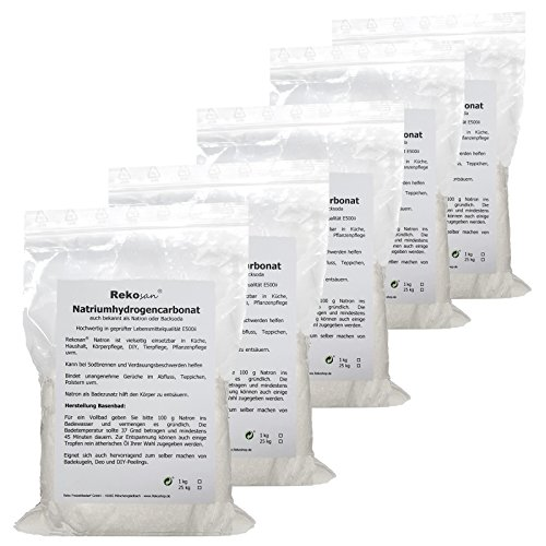 Natron, Natriumhydrogencarbonat, Natriumbicarbonat, Backsoda E500ii von Rekosan® 5 x 1 kg