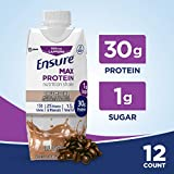 Ensure Max Protein Nutritional Shake with 30g of High-Quality Protein, 1g of Sugar, High Protein...